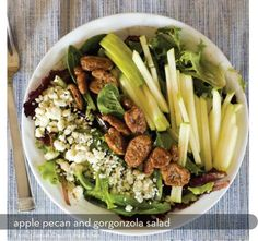 Apple Pecan and Gorgonzola Salad and lots of other yummy salads!!