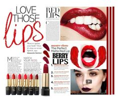 """red lips"" by ninakistyles ❤ liked on Polyvore featuring beauty, L'Oréal Paris, Ellis Faas, Charlotte Tilbury, contest, redlips, lips, contestentry and BerryPrettyLipstick"