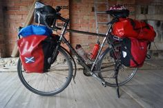 sams loaded touring bike ready for the trip