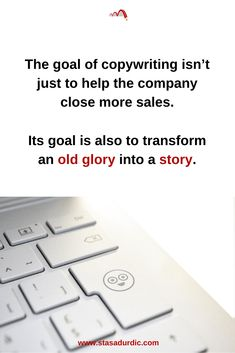 What is the goal of #copywriting? Is it to boost #sales? Or to transform an old glory into a story?  #digitalmarketing #onlinemarketing #storytelling