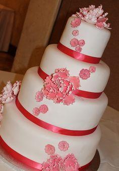 Peonies cake.