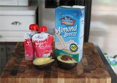Secret Veggies Super Smoothie. Get more kid-friendly recipes like this at Plum Organics Little Foodies Cookbox https://www.plumlittlefoodies.com/little_foodies/2012/05/secret-veggies-super-smoothie/