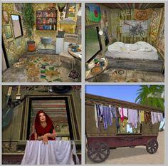 inside a gypsy wagon...