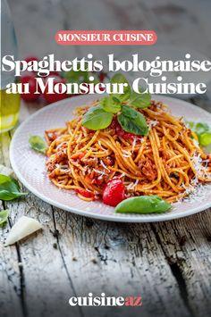 Un grand classique des recettes de pâtes : les spaghettis bolognaise sont faciles à préparer au Monsieur Cuisine. #recette#cuisine#pates#bolo #bolognaise #spaghettis #robotculinaire #MonsieurCuisine