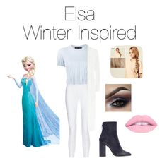 """Elsa Winter Inspired!❄️"" by jazzrodgers ❤ liked on Polyvore featuring Disney, 10 Crosby Derek Lam, Proenza Schouler, Zara, WearAll and Hershesons"