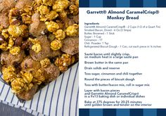 Enjoy this delicious recipe with Garrett Popcorn! Our Garrett Almond CaramelCrisp Monkey Bread is perfect for Thanksgiving and the holidays!