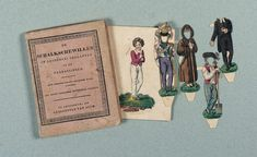 """Paper Dolls, 1790-1940 - The Collection of Shirley Fischer: 6 Circa 1820,Dutch Paper Doll Book """"Willem"""" by J. Guykens"""