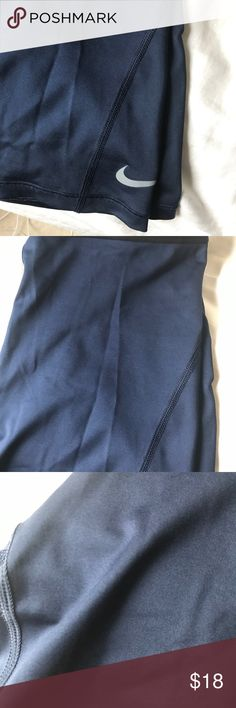 Nike running shorts Fabulous lightweight Nike running shorts. Worn rarely but does have some frayed seams. Tried to show in picture.  Welcome offers. Nike Shorts