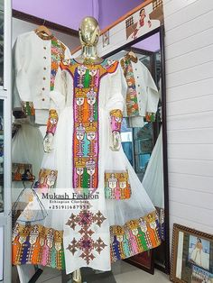 new design nigus solomon ethiopian dress Habesha Kemis, Eritrean, Ethiopian Traditional Dress, Traditional Dresses, Ethiopian Dress, Solomon, Hand Weaving, Quilts, Blanket
