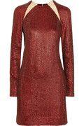 KAUFMANFRANCO Cyrstal-embellished silk dress @ NET-A- PORTER