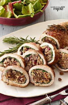 Le parfait rôti de longe de porc farci - Une idée magique pour remplacer la dinde ! #recette
