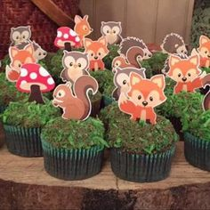 Best Accent Chairs For Living Room Woodland Critters, Woodland Theme, Woodland Baby, Jordan Baby Shower, Baby Boy Shower, Cupcakes For Boys, Safari Party, Jungle Safari, 1st Birthday Parties