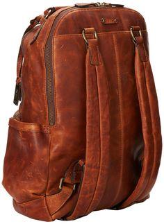 FRYE Men's Logan Antique Pull Up Backpack, Cognac, One Size