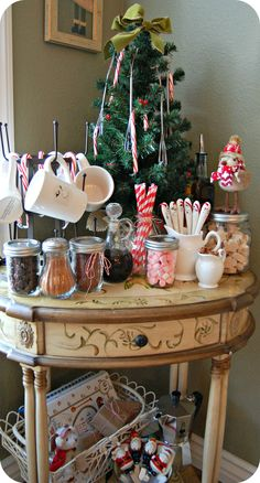 Baby it's cold outside. Create a hot cocoa station to keep your guest cozy this Holiday season.
