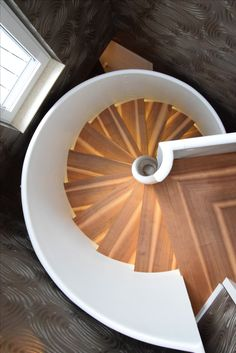 Our spiral stair TORNADO from top. Visit Siller Stairs web site for more inspiring stair designs