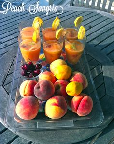 Peach Sangria from sweatshirt-weather.blogspot.com