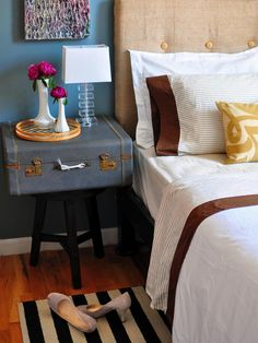 12 Ideas for Nightstand Alternatives   DIY Home Decor and Decorating Ideas   DIY