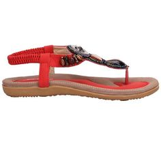 27517e85c2e367 Beaded jewelry flats sandals is the elegant which suit for party or casual  wear