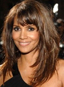 Halle's layered hair