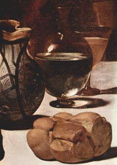 Caravaggio - Cena in Emmaus, dettaglio - - Londra, National Gallery Baroque Painting, Baroque Art, Italian Painters, Italian Artist, Arte Naturalista, Michelangelo Caravaggio, Michael Angelo, National Gallery, Italian Baroque