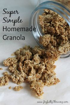 Simple homemade granola recipe - It really is so simple and so delicious! This is the only granola recipe I make now.