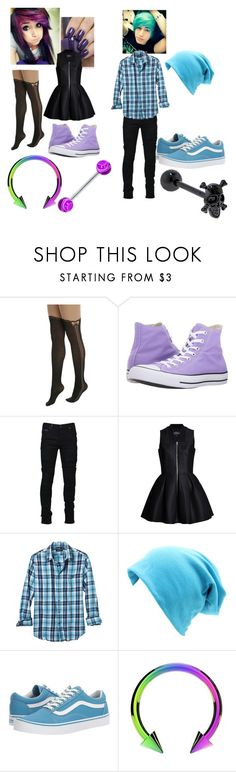 """""""Both of their hair are bright and beautiful 💜💙"""" by littleredd15 ❤ liked on Polyvore featuring Hot Topic, Converse, Marcelo Burlon, OPI, Lavinia Cadar, Banana Republic and Vans"""
