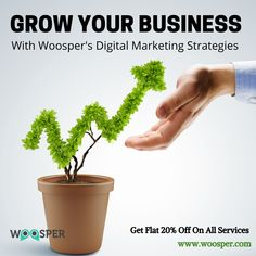 fast with the of Woosper. We offer multiple for different businesses to & Get FLAT OFF on all services. Contact us TODAY! Digital Marketing Strategy, Digital Marketing Services, Seo Services, Internet Marketing, Online Marketing, Increase Sales, Lead Generation, Growing Your Business, Flat