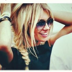 messy plait great for the summer