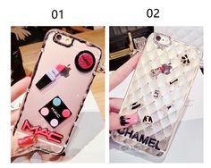 Modisches Mädchen silikon transparente Handyhülle mit Cream Make-up Muster für Iphone6/6s/6plus