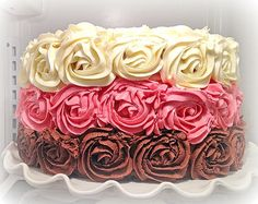 Awesome Neapolitan Rose Cake