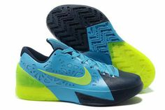 KD Trey 5 Neo Turquoise-Navy Blue/Electric Green Nike Mens Shoes