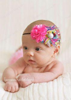 Confetti Creations Headband baby bows headband by TheLoopsyDaisy, $10.95