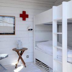 First aid locker & bunk bed