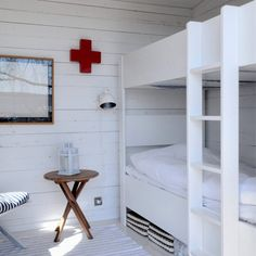 First aid locker & bunk bed