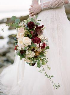 Dreamy cascading bridal bouquet