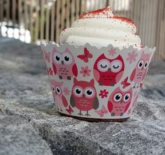 Baby Girl Pink Owls Baby Shower Cupcake Wrappers ADJUSTABLE - Set of 12 - Pink, owls, butterflys, girl party >>> Discover this special product, click the image : Bakeware First Birthday Party Themes, Baby First Birthday, Gruffalo Party, Diy Baby Shower Centerpieces, Baby Shower Quotes, Baby Shower Cupcakes, Girl Cupcakes, Baby Shower Flowers, Party Food And Drinks