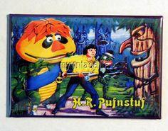 """Vintage H.R. PUFNSTUF Lunchbox 2"""" x 3"""" Fridge MAGNET ART side A"""