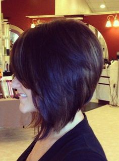 Cute Stacked Inverted Shoulder Length Bob Hairstyle