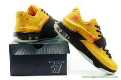 newest 2f6b4 b4f19 Masculino KDVII-011 Nike KD VII Amarelo produtos de basquete Lojas,  Produtos, Amarelo