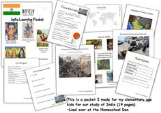 Free unit study on India with printables