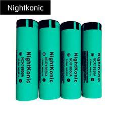 10 PCS 18650 battery  NightKonic 3.7V  Li-ion Rechargeable Battery Flashlight batteries