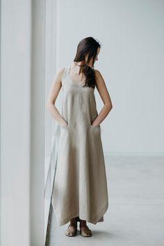 Linen Dress Motumo 15S13 by MotumoLinen on Etsy
