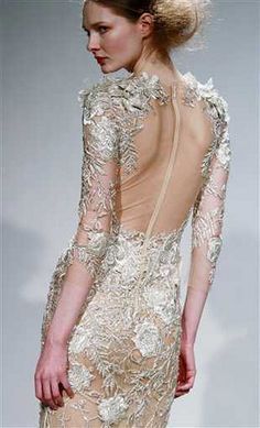 Net dress. Interesting!  Marchessa