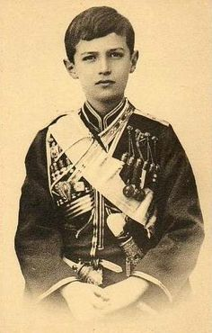 Tsarevich Alexei in Cossack uniform