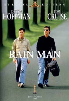 Rain Man, 1988. Selfish yuppie Charlie Babbitt's (Tom Cruise) father dies and leaves a fortune – to Raymond (Dustin Hoffman), the institutionalized autistic savant brother that Charlie didn't know he had. Charlie and Raymond set out on a cross-country journey of discovery, which becomes life changing for Charlie. Grade: 8.80/10