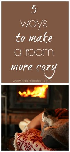 With fall we tend to spend more time inside the house, so why not make it cozy and warm. With that in mind you will find 5 easy and economical tips that will allow you to make any room of our home cozy. http://www.nobletandem.com/5-ways-make-room-cozy-5-facons-de-rendre-une-piece-plus-cosy/