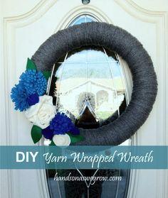 DIY Yarn Wrapped Wreath