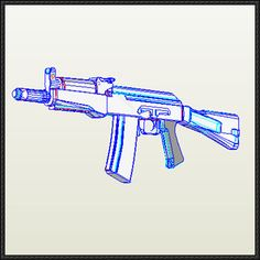 AK-9 Fully Automatic Assault Rifle Free Gun Paper Model Download - http://www.papercraftsquare.com/ak-9-fully-automatic-assault-rifle-free-gun-paper-model-download.html