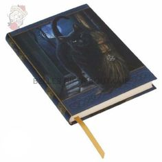 Embossed Journal A Brush With Magick Keep a record of your tarot journeys, magical workings or spiritual explorations in this luxurious journal. Your studies, Pentacle, Straw Broom, Lisa Parker, Magic Cat, Gothic, Cat Stands, Ink Toner, Metallic Paper, Book Journal