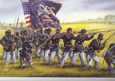 The 1st Kansas Colored Infantry was mustered January 13th 1863 into the Union Army.